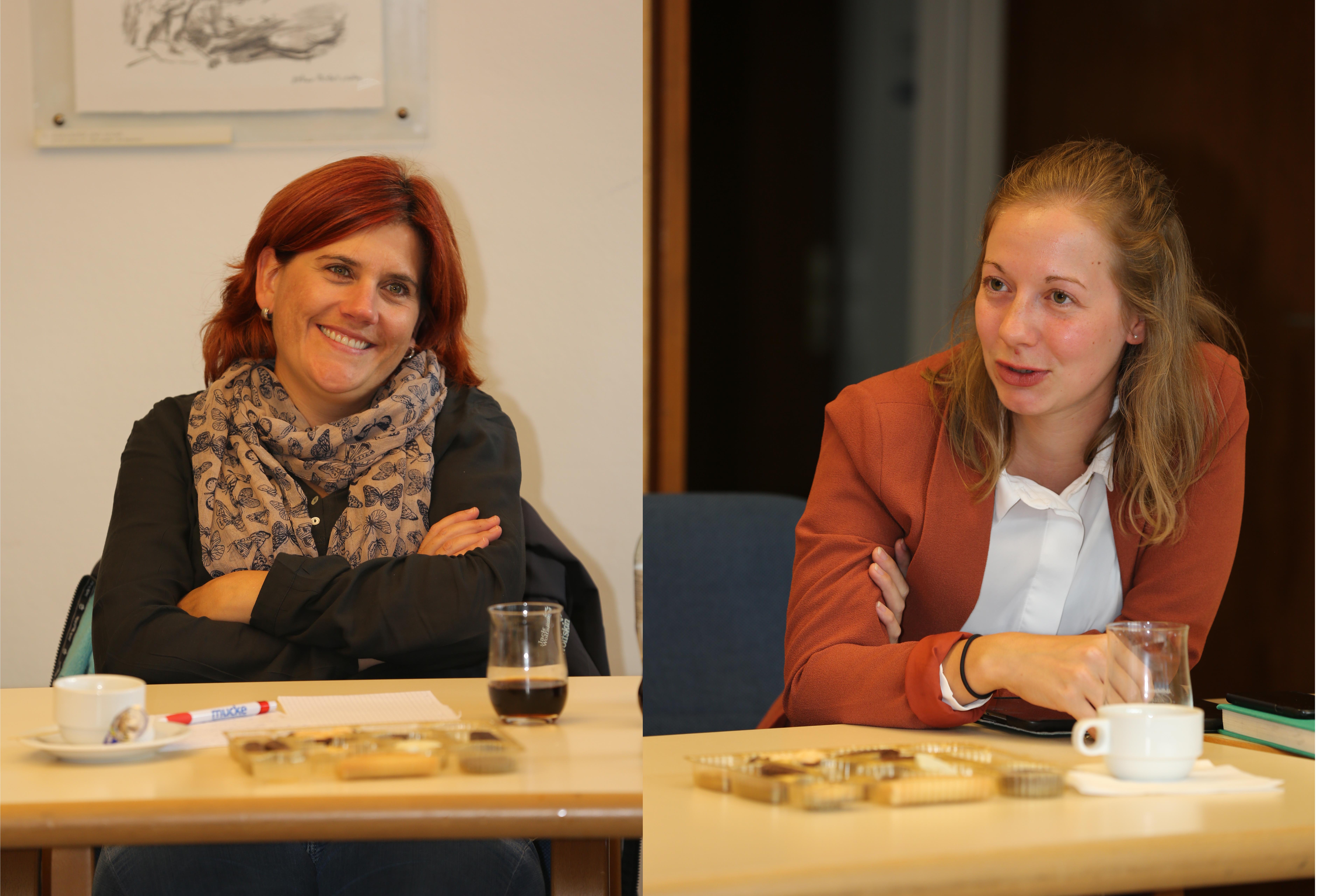 Zwei Teilnehmerinnen.